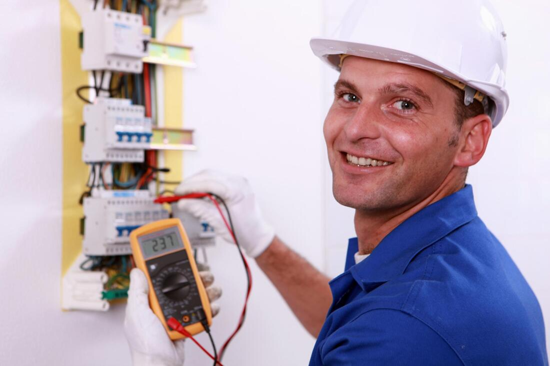 man upgrading electrical panel